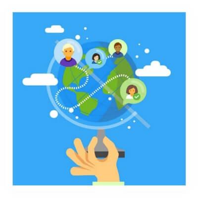 Berkomunikasi dengan seluruh dunia