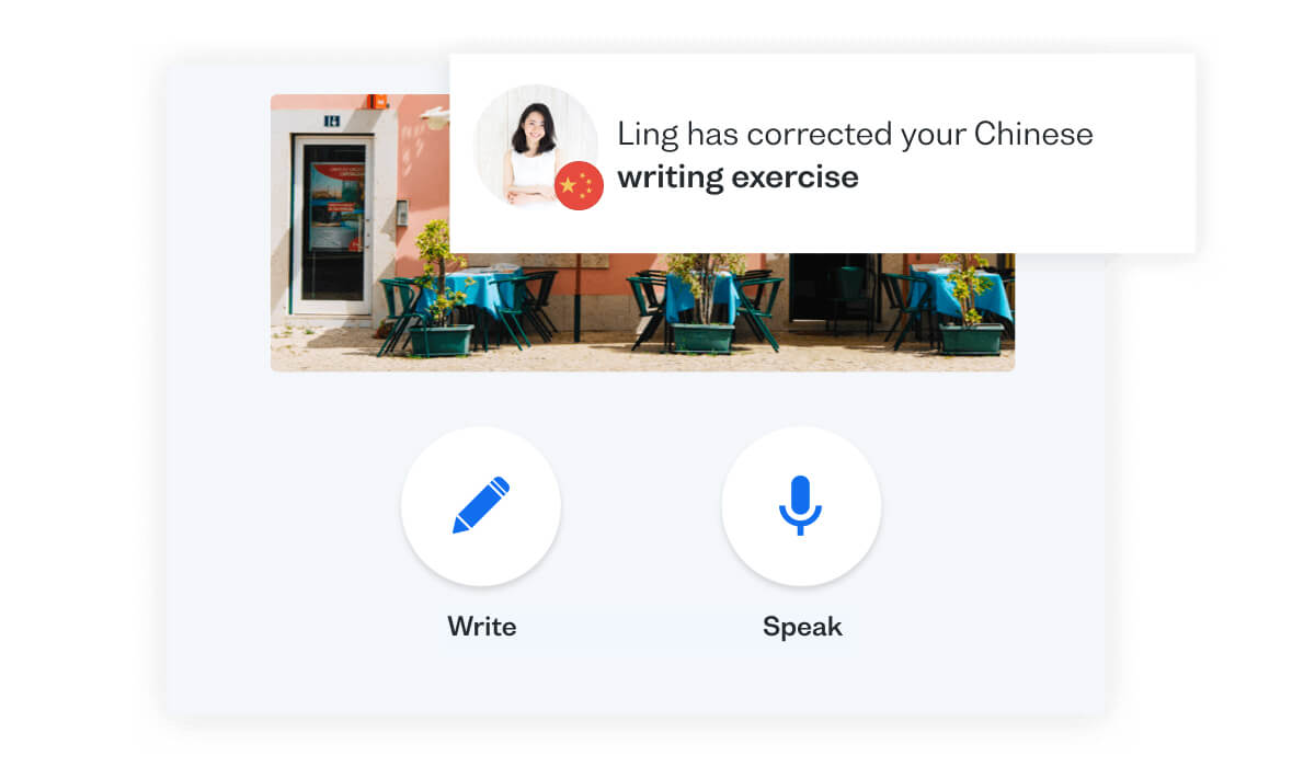 Learn to speak Chinese by practising with native speakers via Busuu's Conversations feature