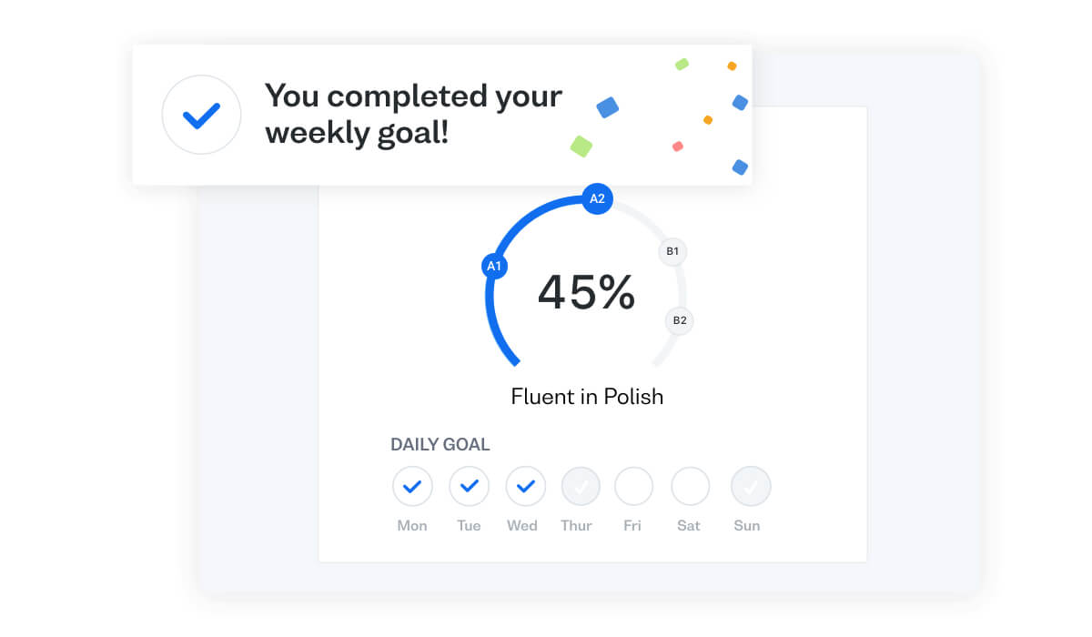 Achieve your Polish language goals with Busuu's Study Plan