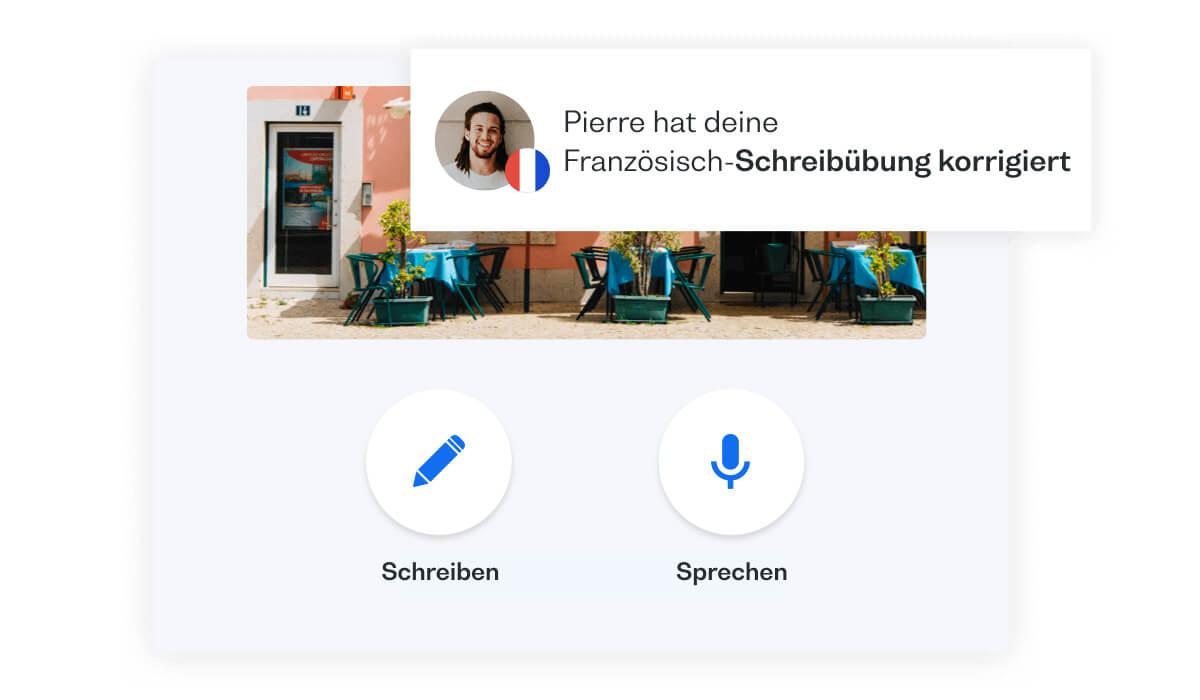 Französisch sprechen üben mit Konversationen in der App: lerne Französisch