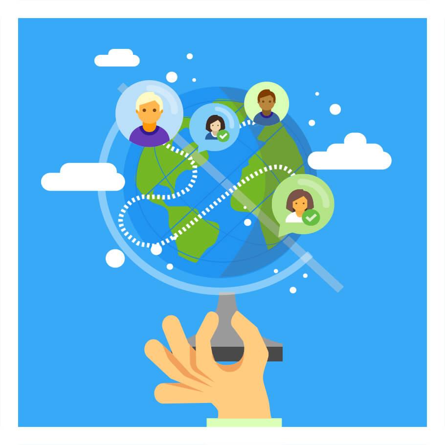 تواصَل مع الناطقين باللغة في جميع أنحاء العالم