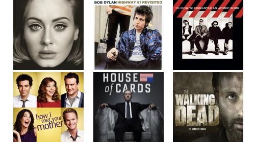 música y películas ingles